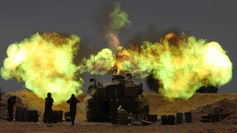 Artillería israelí en la frontera de Gaza