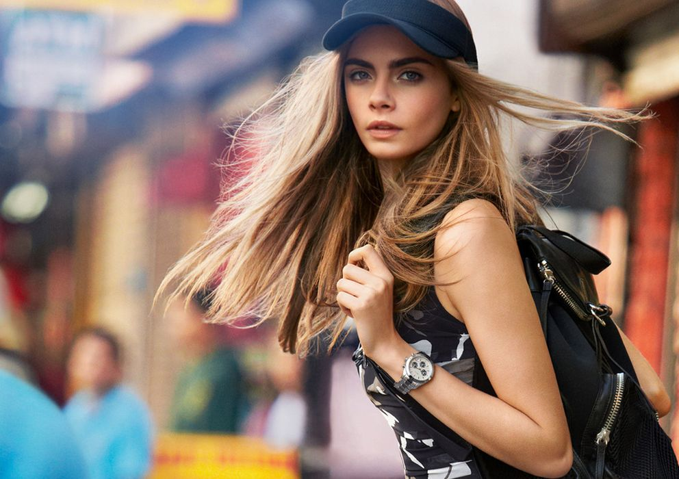 Foto: Cara Delevingne para la campaña de DKNY