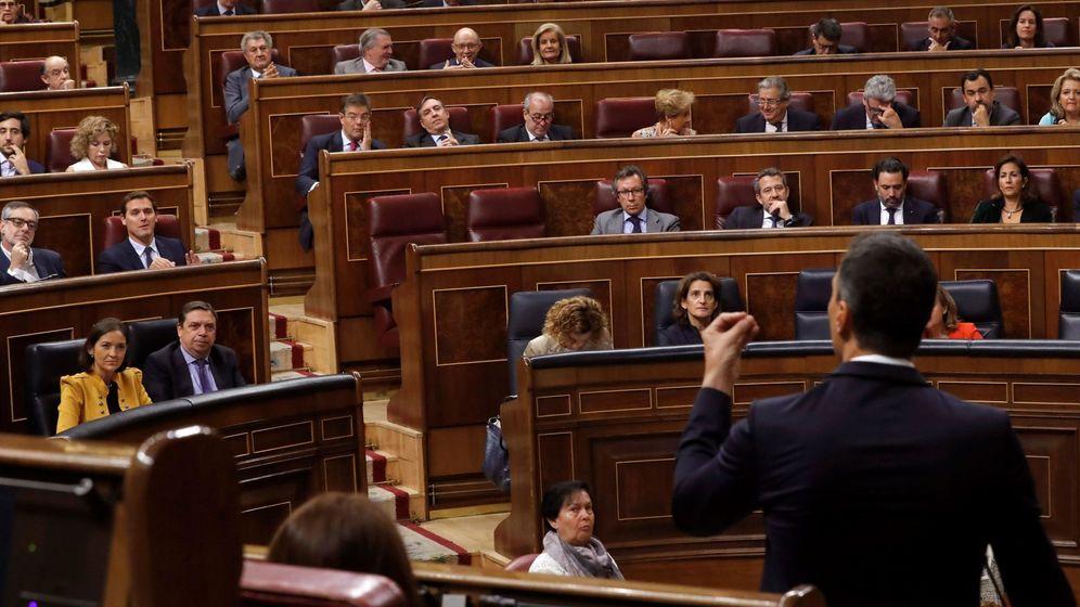 Foto: El presidente del Gobierno, Pedro Sánchez, en el Congreso de los Diputados. (EFE)