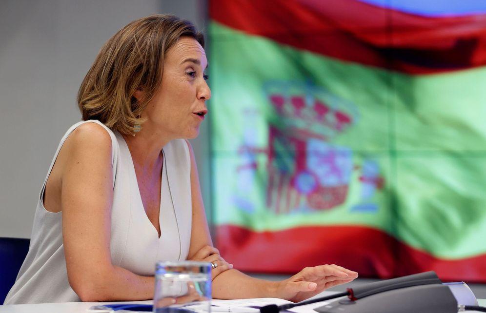 Foto: La nueva portavoz en el Congreso, Cuca Gamarra, durante la reunión de la Junta Directiva del PP en Madrid. (EFE)