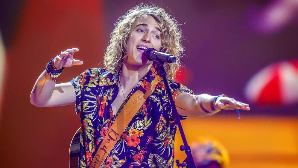 Foto: Manel Navarro en Eurovisión.