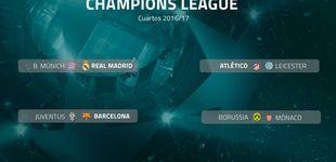 Post de Bayern-Real Madrid, Atlético-Leicester y Juve-Barça, en cuartos de Champions
