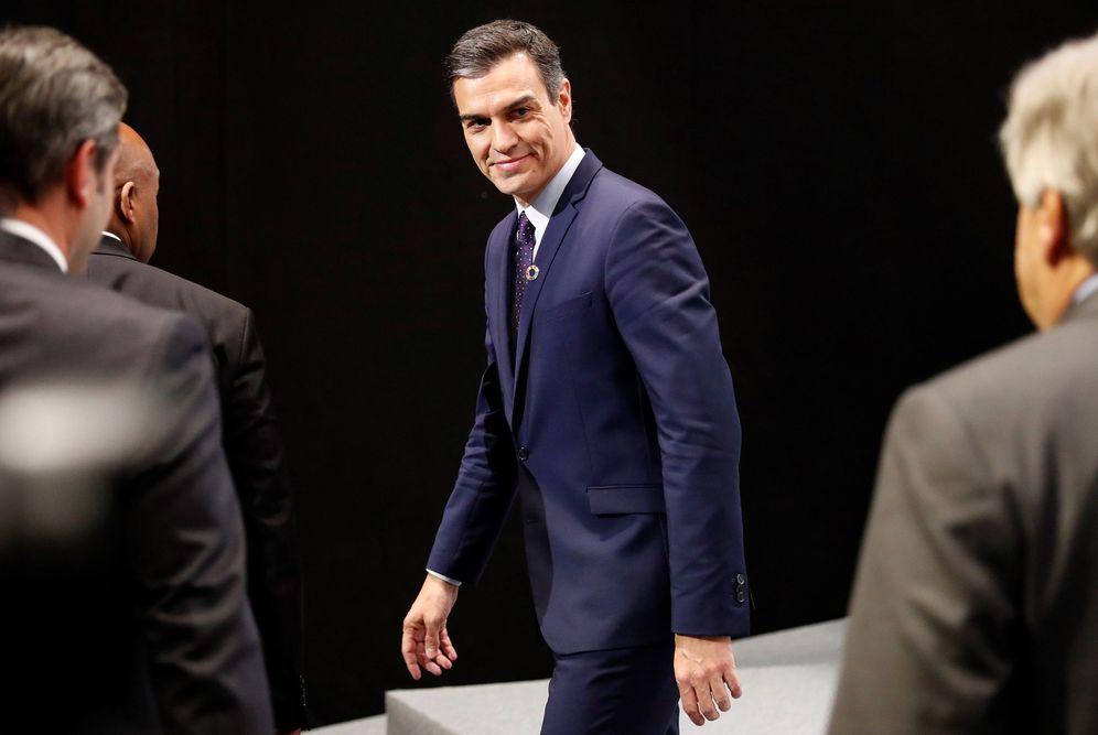 Foto: Pedro Sánchez, durante la rueda de prensa con el secretario general de la ONU, Antonio Guterres, este 2 de diciembre en Madrid. (EFE)