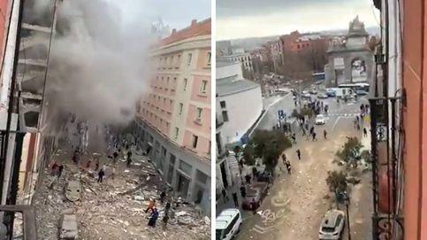 Así se ha visto la explosión de un edificio de la calle Toledo desde diferentes áreas de Madrid