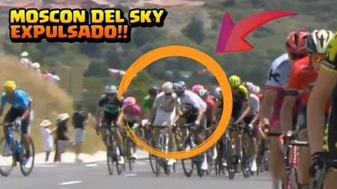 Moscon, del Sky, expulsado del Tour por un manotazo