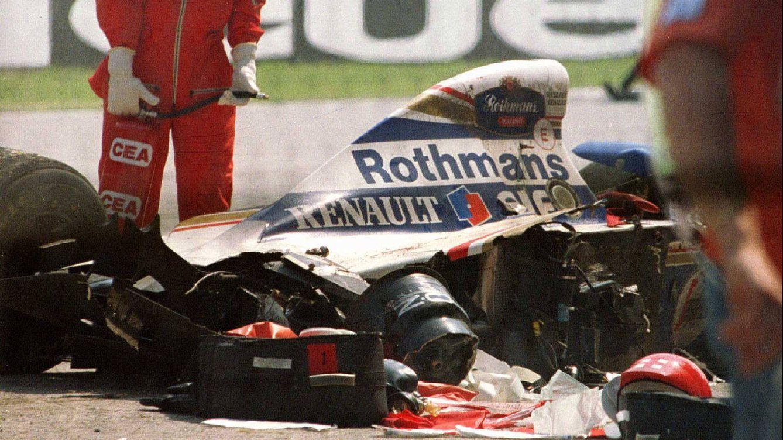 Cómo puede sentirse un ingeniero (Newey) cuando el piloto muere (Senna) en su coche