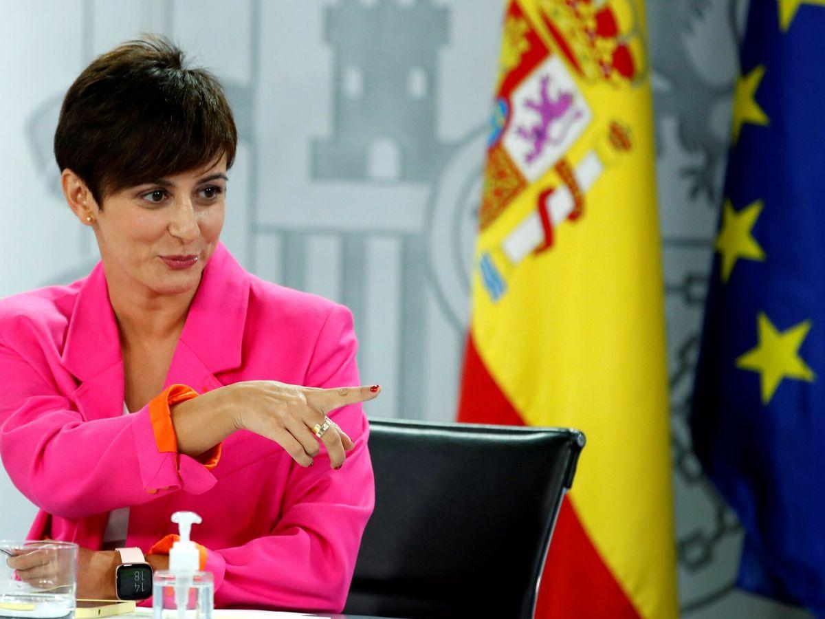 Foto: La portavoz del Gobierno, Isabel Rodríguez, durante la rueda de prensa posterior al Consejo de Ministros. (EFE)