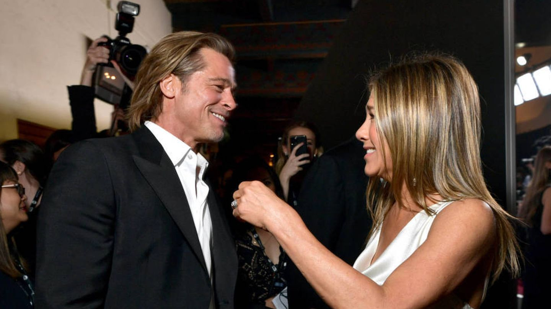 Pitt y Aniston. (Getty)