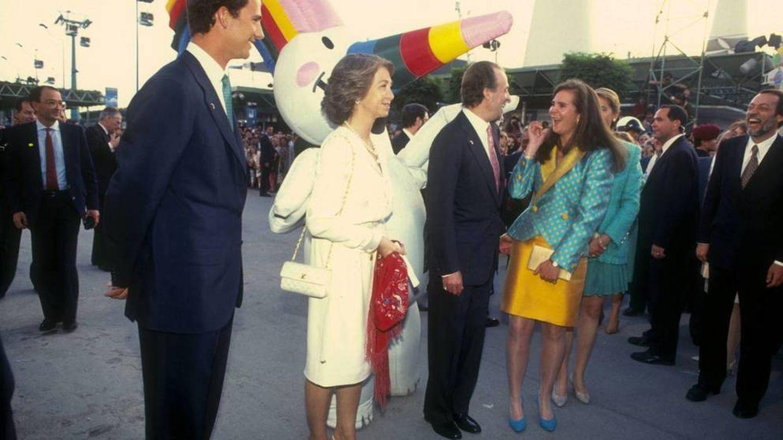 La familia real en los actos de la Expo'92 de Sevilla