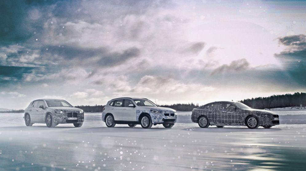 Foto: La nueva generación eléctrica de BMW se desarrolla en las pistas de Arjeplog, en Suecia.