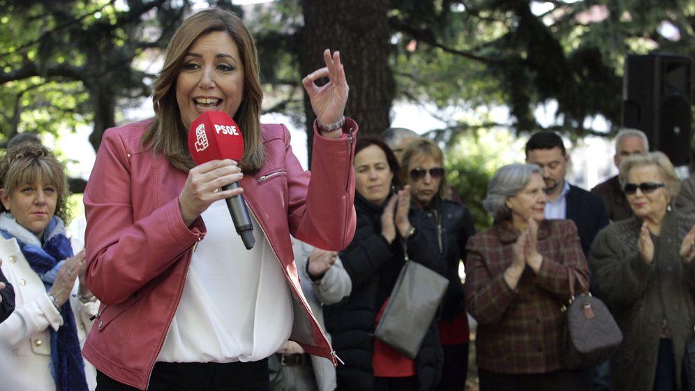 Foto: Susana Díaz, en una visita a Ferrol durante su campaña