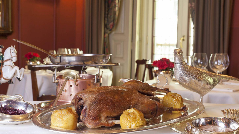 La mesa de Horcher preparada para Acción de Gracias