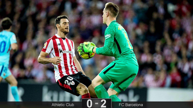 Foto: Ter Stegen le negó el gol a Aduriz. (Cordon Press)