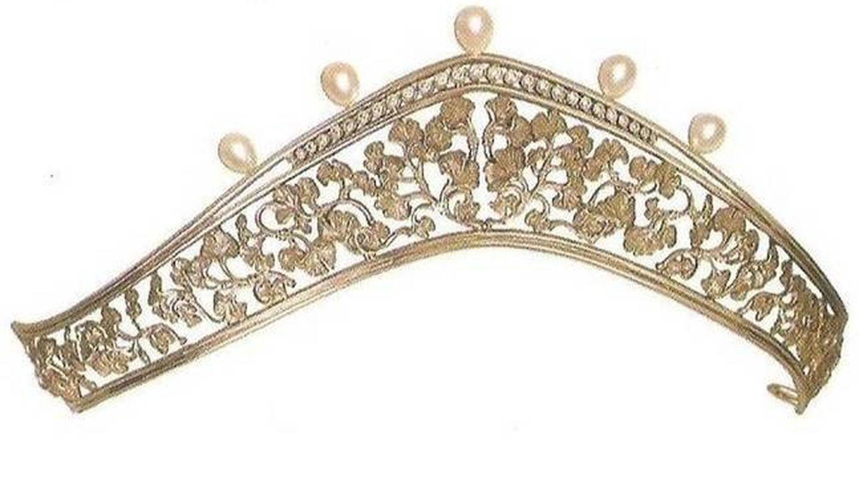 La tiara de Carrera y Carrera que poseen tanto Miriam de Ungría como la reina Letizia. (Cortesía)