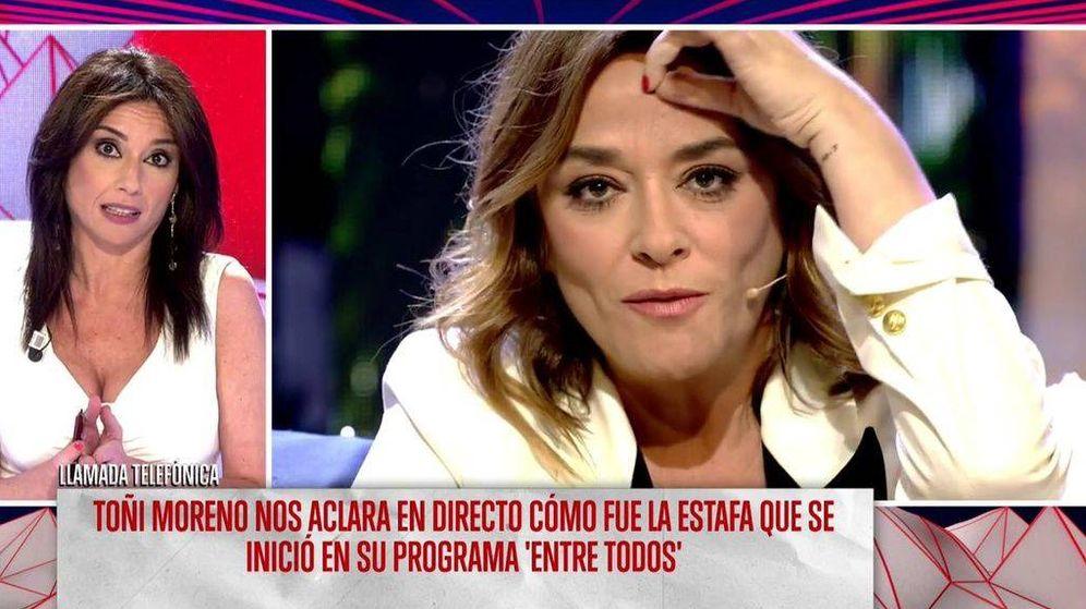 Foto: Toñi Moreno entra, vía telefónica, en 'Todo es mentira' para hablar sobre el presunto caso de estafa en el programa 'Entre todos'. (Mediaset España)