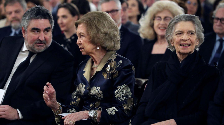 La reina Sofía, con la princesa Irene. (EFE)
