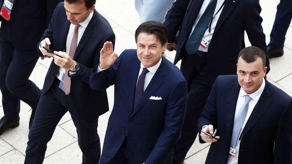 Foto: El primer ministro italiano, Guiuseppe Conte, en Biarritz para el G7. (Reuters)