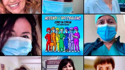 Italia se rinde a un coro de enfermeros que canta contra el coronavirus