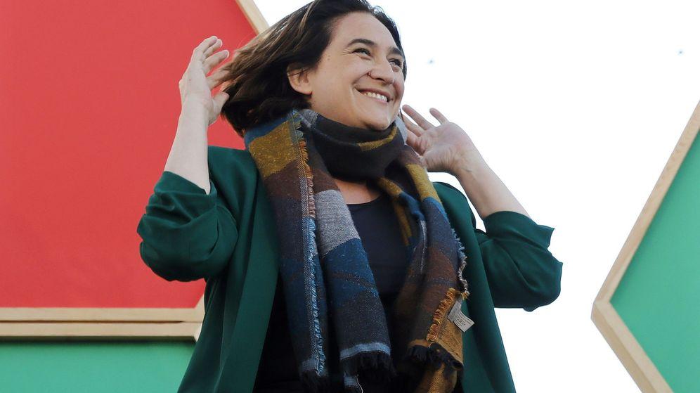 Foto: Ada Colau, durante un acto de campaña de Barcelona en Comú. (EFE)