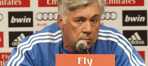 Foto: Rueda de prensa de Carlo Ancelotti (Efe).