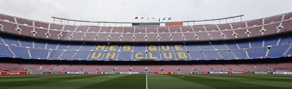 Foto: Imagen panorámica de una zona del Camp Nou de Barcelona (Reuters)