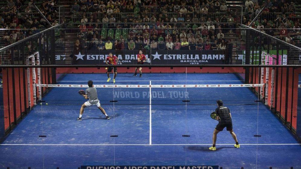 Foto: Imagen de unos de los partidos de cuartos de final del Buenos Aires Pádel Master. (Foto: World Padel Tour)