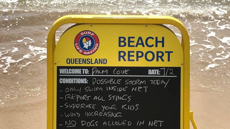 Una señal de peligro en Australia. (J.B.)