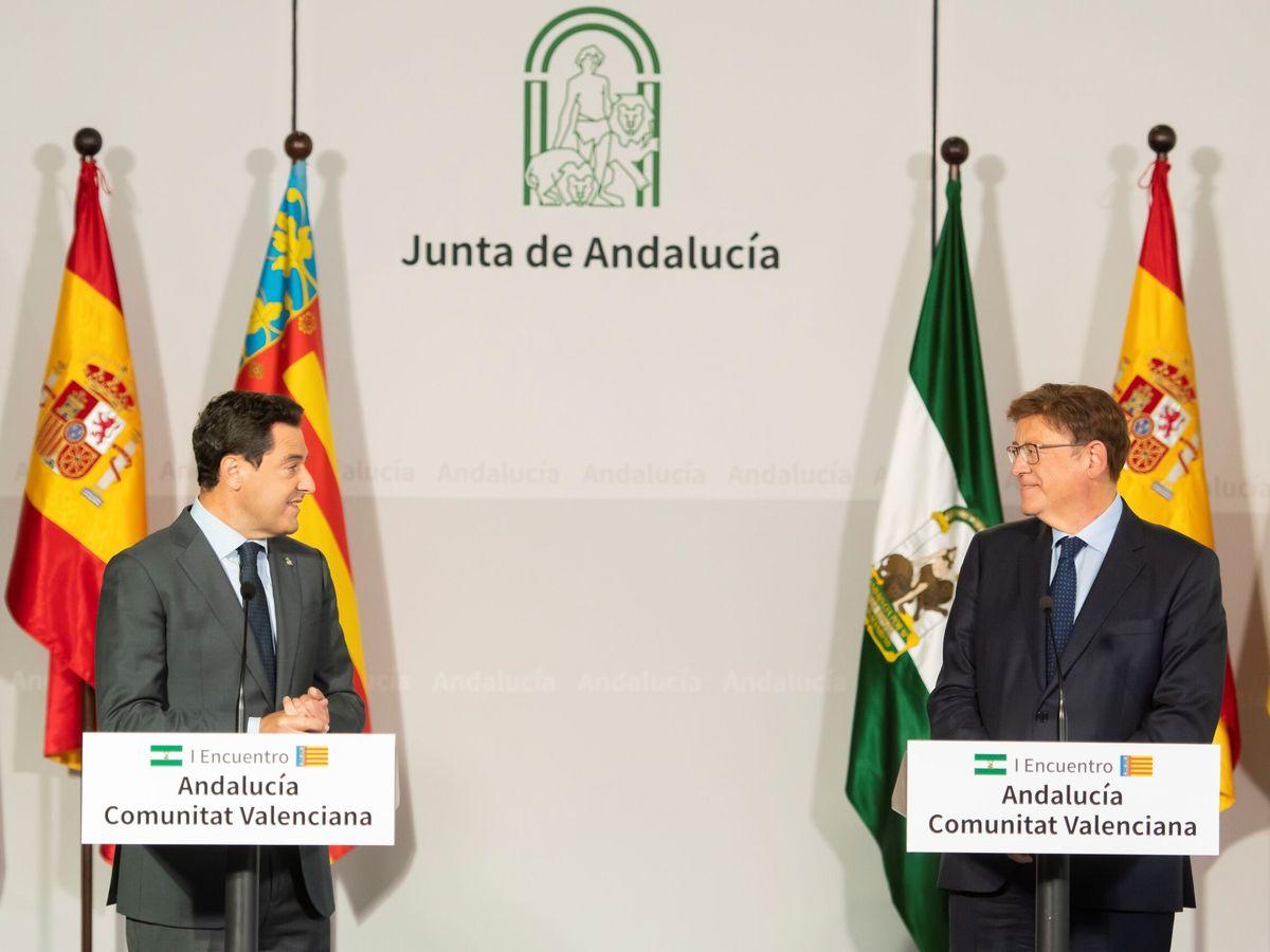 Foto: Moreno y Puig, en el encuentro que ambos mantuvieron en Sevilla el pasado 21 de septiembre. (EFE)