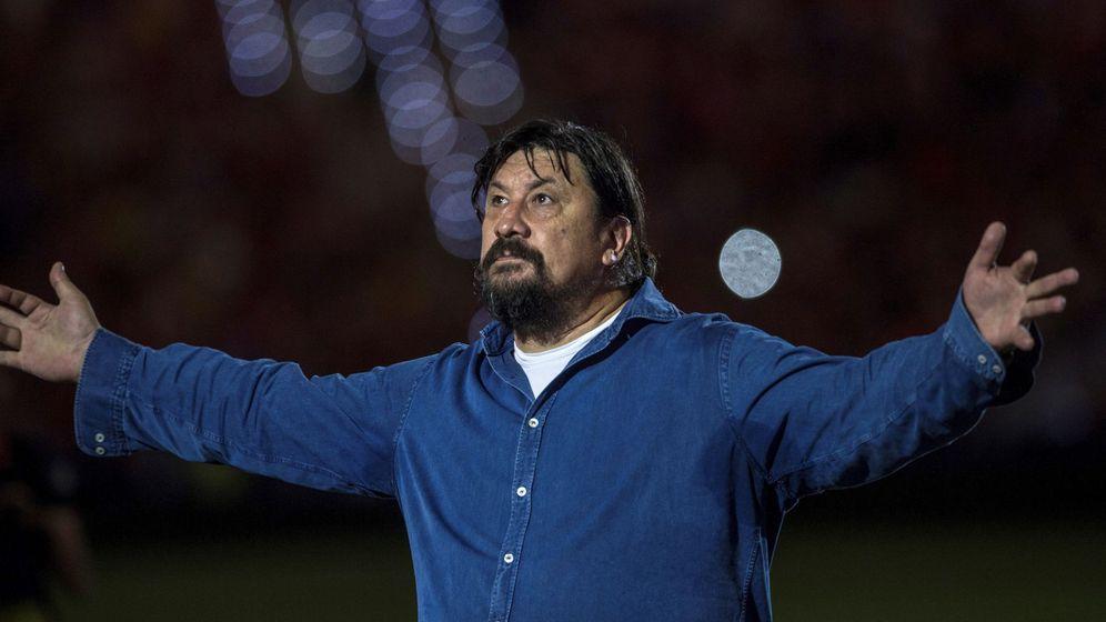 Foto: El 'Mono' Burgos, en el estadio Wanda Metropolitano. (EFE)