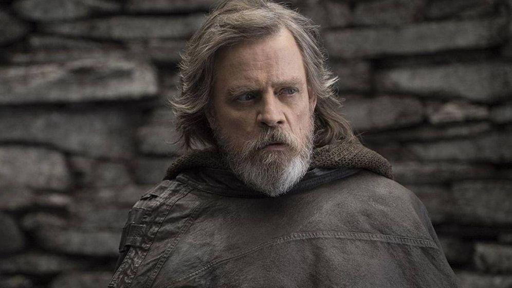 Foto: Mark Hamill en una imagen de 'Star Wars: los últimos Jedi' (Disney)