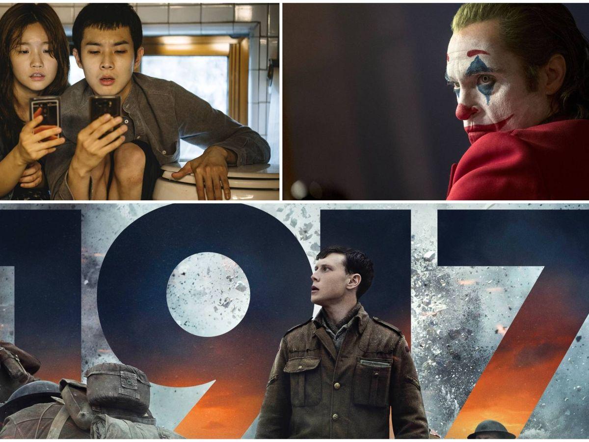 Foto: 'Parásitos', 'Joker' o '1917', tres de las películas candidatas a Oscar