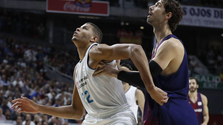 Edy Tavares acabó con 4 puntos y 4 rebotes en su debut con el Real Madrid. (ACB Photo/Á. Martínez)