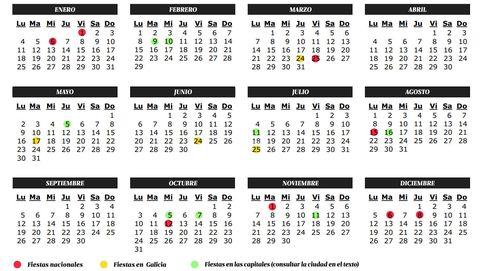 Calendario de fiestas 2016 en Galicia: Semana Santa, puentes, festivos y días libres