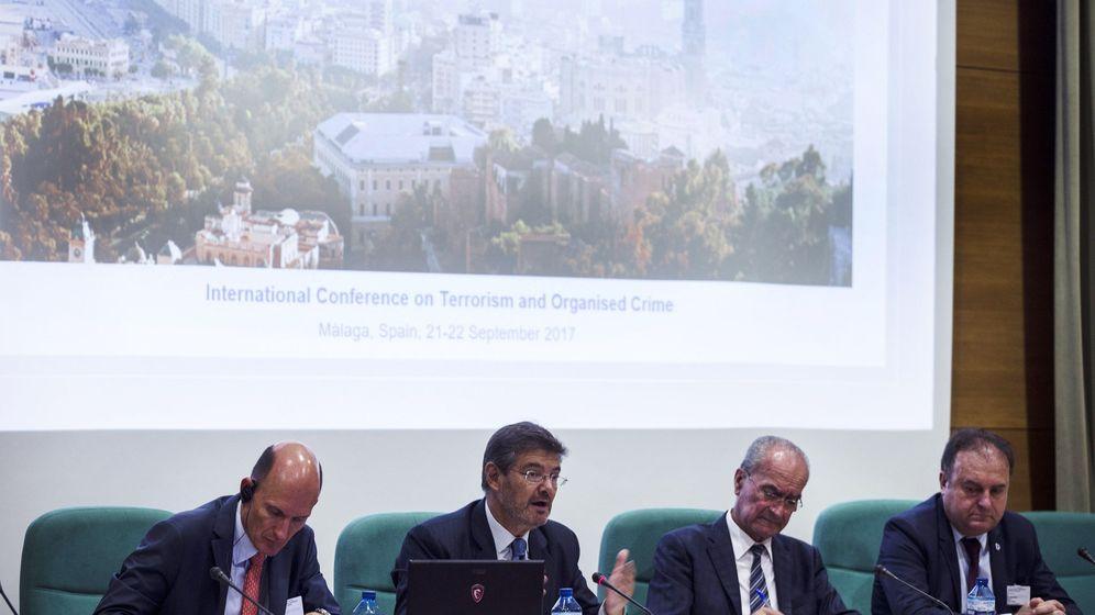 Foto: El ministro Rafael Catalá, en la Conferencia Internacional sobre Terrorismo y Delicuencia Organizada, en Málaga. (EFE)