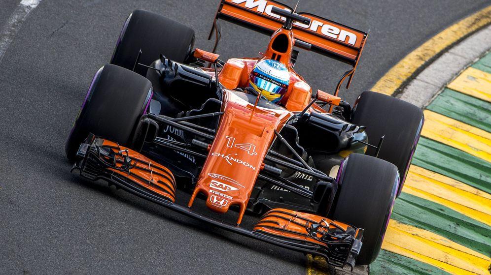 Foto: Alonso, durante el Gran Premio de Australia. (EFE)