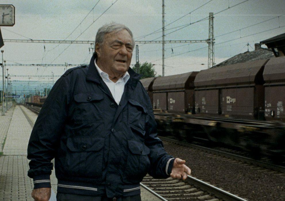 Foto: Claude Lanzmann en el rodaje del filme