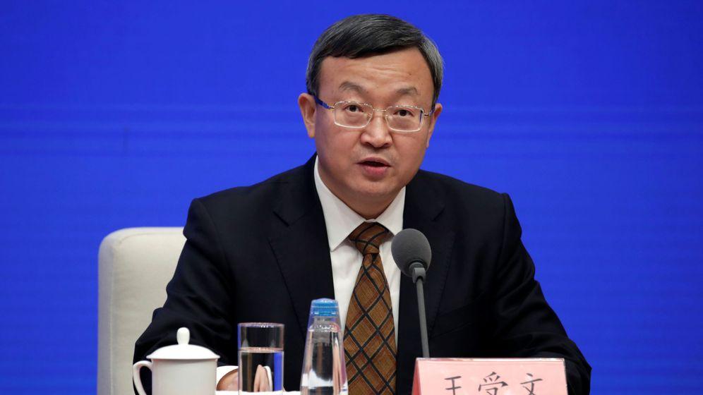 Foto: El vice presidente de Comercio, Wang Shouwen, en la rueda de prensa de este viernes. (Reuters)
