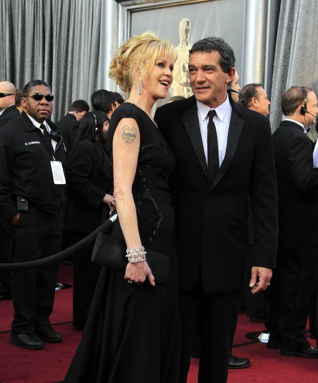 Foto:  Melanie Griffith y Antonio Banderas, en la edición 84 de los Oscar. (Reuters)