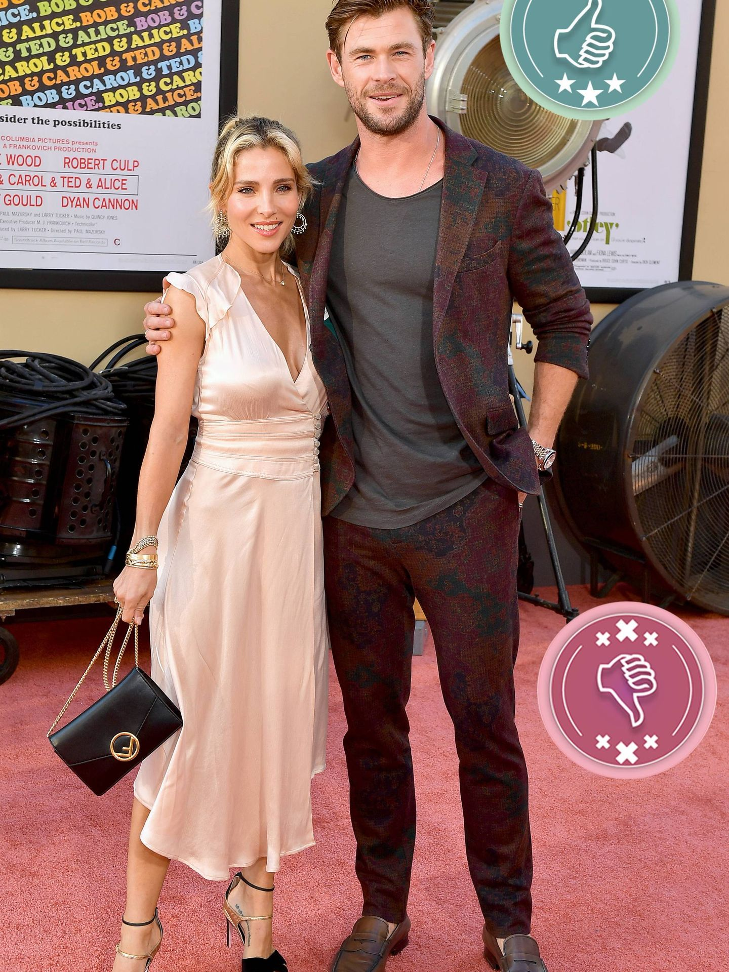 Elsa Pataky y Chris Hemsworth en la première de 'Once Upon a Time in Hollywood'. (Getty)