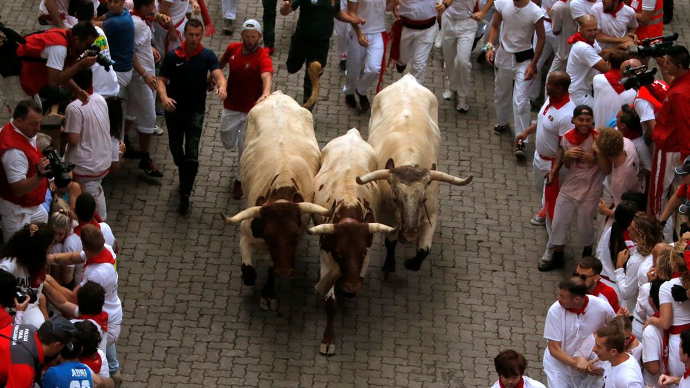Foto: Primer encierro de 2019 en Pamplona. (Reuters)