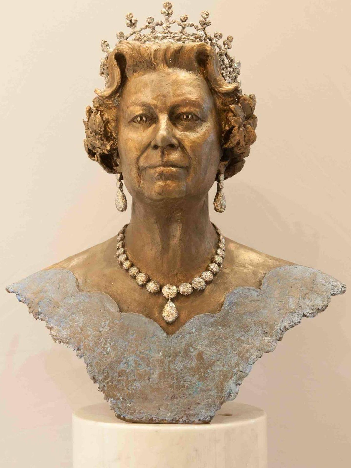 Busto de Isabel II esculpido por Frances Segelman. (Cortesía)