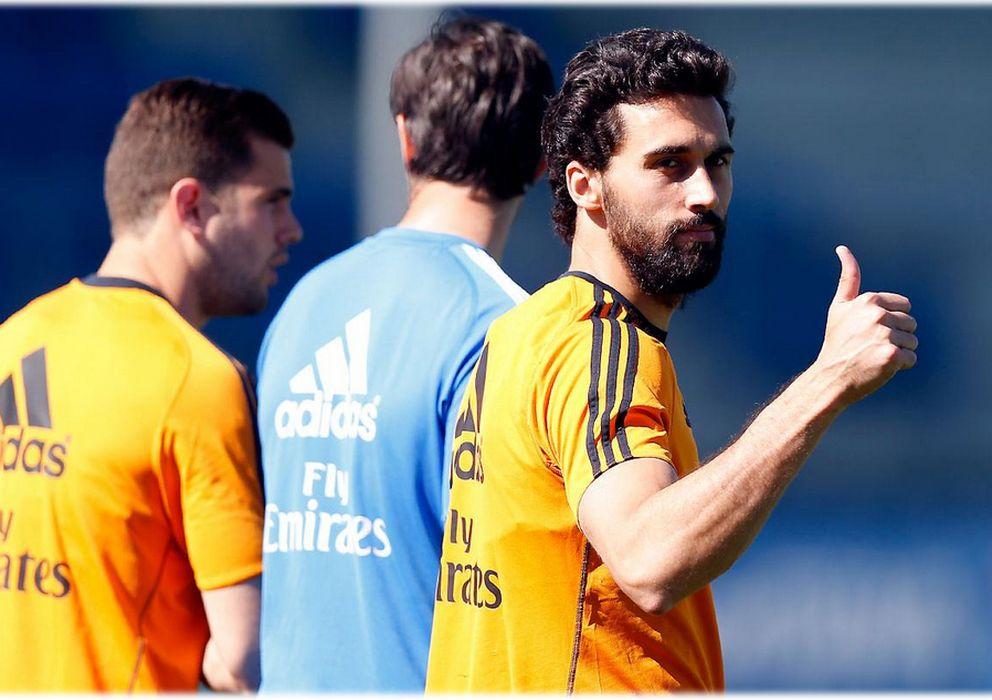Foto: Álvaro Arbeloa ha vuelto a los entrenamientos dos meses después (Real Madrid).