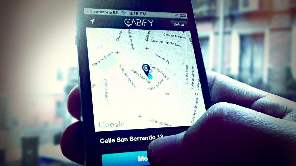 Foto: Vista de la aplicación de Cabify. (Cabify)