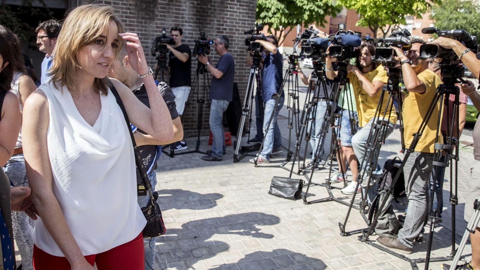 Foto: Tania Sánchez, a su llegada de los juzgados de Arganda del Rey. (EFE)