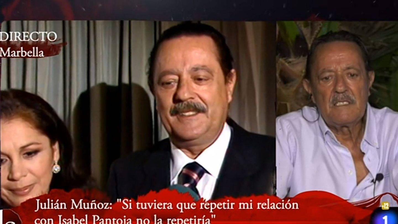 Julián Muñoz, durante su aparición en el debate de 'Lazos de sangre'. (TVE)