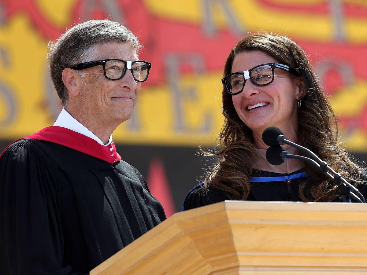 Foto:  Bill y Melinda Gates, dando un discurso. (Getty)