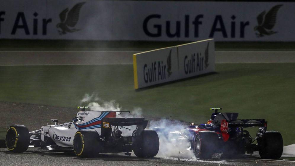 Foto: Lance Stroll y Carlos Sainz cuando tuvo lugar el incidente. (Foto @F1)