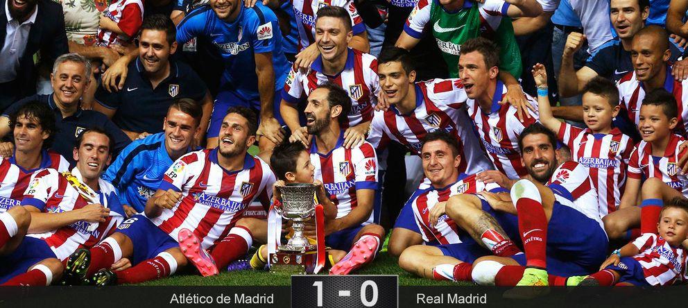 Foto: Un pelotazo y dos toques bastaron para que un buen Atlético se llevara la Supercopa