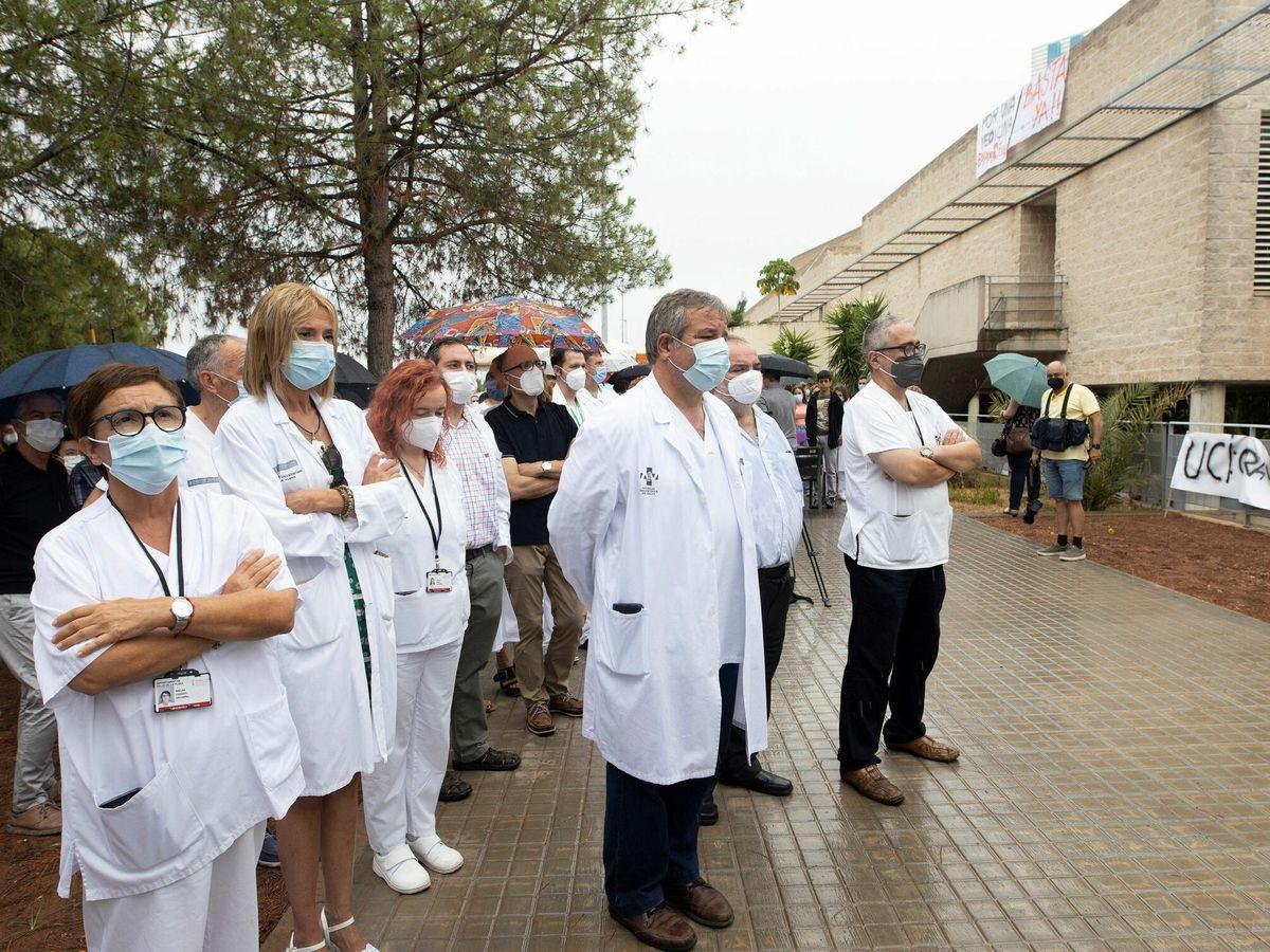 Foto: La Junta del Personal del hospital La Plana. (EFE)