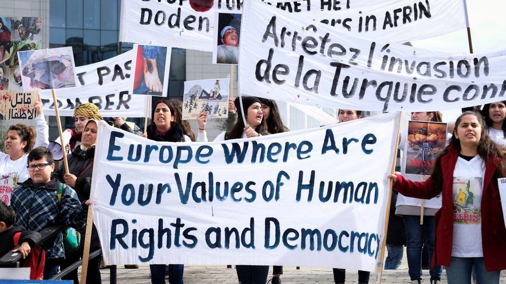 Foto: Manifestación en Bruselas. (EFE)